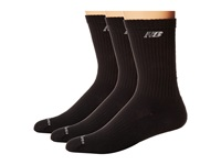 New Balance Cotton Crew 3 Pack. Black Crew Cut Socks Shoes
