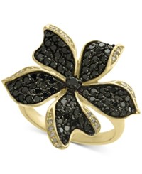 Effy Final Call Diamond Flower Statement Ring 1 1 6 Ct. T.W. In 14K Gold Yellow Gold