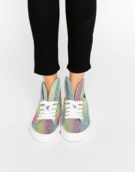 Minna Parikka All Ears Rainbow Glitter Trainers Rainbow Glitter Multi