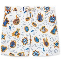 Loewe Paula's Ibiza Mid Length Printed Swim Shorts White