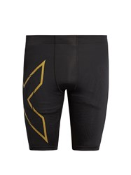 2Xu Elite Mcs Compression Performance Shorts Black Multi