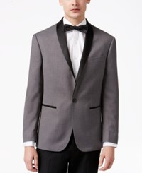 Ryan Seacrest Distinction Men's Slim Fit Gray Basketweave Dinner Jacket Only At Macy's