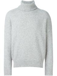 Ami Alexandre Mattiussi Oversized Turtleneck Jumper Grey