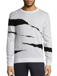 Plac Retro Spectrum Ribbed Jacquard Sweater White