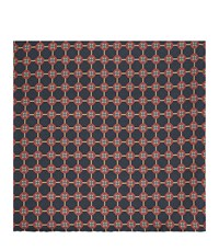 Reiss Lucca Printed Silk Pocket Square In Navy