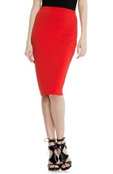Women's Vince Camuto Stretch Knit Midi Tube Skirt Fiery Red