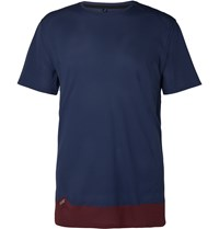 Soar Running Colour Block Mesh T Shirt Blue