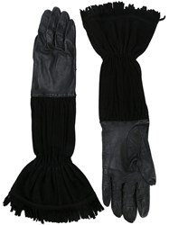 Herma S Vintage Frayed Edge Gloves Black