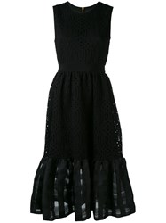Marco Bologna Lace Dress Women Cotton Polyamide 42 Black