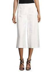 Karl Lagerfeld Linen Blend Culottes Soft White