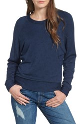 Stateside Women's Floral Print Pullover Navy