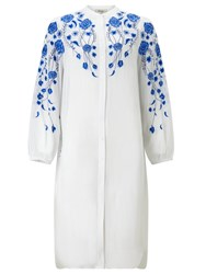 Alice By Temperley Somerset By Alice Temperley Floral Embroidered Oversize Shirt White