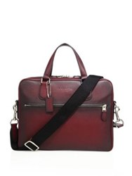 Coach Textured Leather Bag Silver Burgundy
