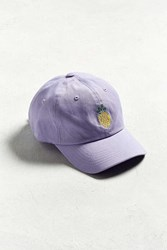 Urban Outfitters Uo Pineapple Baseball Hat Purple