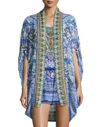 Camilla Open Front Embellished Silk Cardigan Cape Coverup Guardian Of Secrets Guardian Secrets