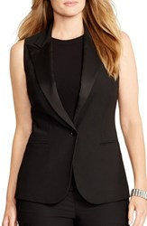 Plus Size Women's Lauren Ralph Lauren One Button Vest