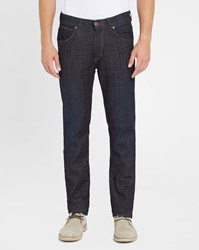 Wrangler Blue Greensboro Extra Stretch Raw Tapered Regular Jeans