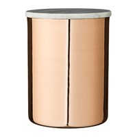 Bloomingville Deco Jar With Marble Lid Copper Tall