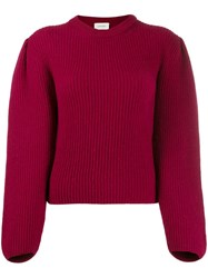 Christophe Lemaire Ribbed Knit Jumper Red