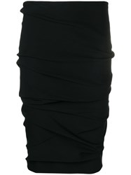 Tom Ford Ruched Pencil Skirt Black
