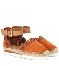 See By Chloe Suede And Leather Espadrilles Brown