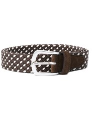 Eleventy Woven Belt Brown
