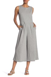 Eileen Fisher Speckled Organic Cotton Jumpsuit Moon