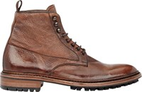 Barneys New York Washed Leather Boots Brown