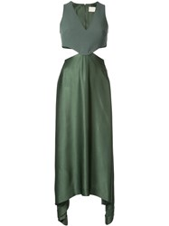 Dion Lee Transfer Suspend Dress Green