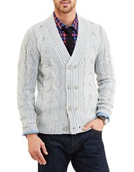 Nautica Cable Knit Cardigan Grey