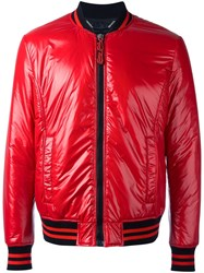 Philipp Plein Dunno Bomber Jacket Red