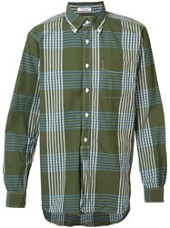 Engineered Garments Checked Shirt Green