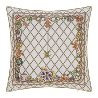 Roberto Cavalli New Spider Silk Cushion White Multi White