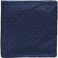 Fairfax Men's Colorblock Medallion Pocket Square Navy