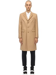 Burberry Single Breast Wool And Cashmere Coat Camel