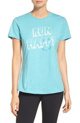 Brooks Women's 'Run Happy' Smile Graphic Tee
