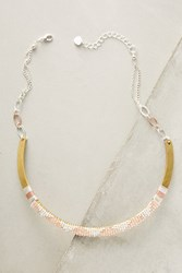 Anthropologie Mia Beaded Choker Necklace Rose