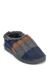 Muk Luks John Faux Fur Slipper Blue