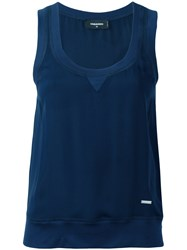 Dsquared2 Sleeveless Blouse Blue