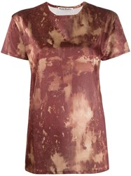 Acne Studios Bleach Print T Shirt Brown