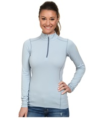 Arc'teryx Phase Ar Zip Neck L S Vapour Women's Long Sleeve Pullover Gray