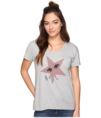 Converse Starry Eyed Short Sleeve Crew Tee Vintage Grey Heather Women's T Shirt Gray