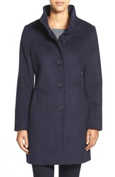 Women's Dkny Brushed Stand Collar Coat