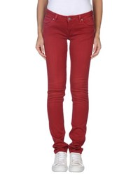 Andy Warhol By Pepe Jeans Denim Denim Trousers Women Garnet