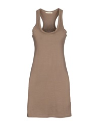 Nioi Short Dresses Khaki