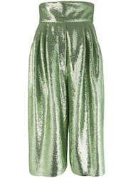 Marc Jacobs Sequin Wide Leg Trousers Green