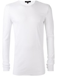 Unconditional Ribbed Crew Neck T Shirt White