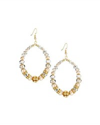 Emily And Ashley Crystal Beaded Statement Teardrop Earrings Clear