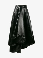 Rosie Assoulin Faux Leather Maxi Skirt Black