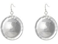 Robert Lee Morris Hammered Disc Drop Earrings Silver Earring